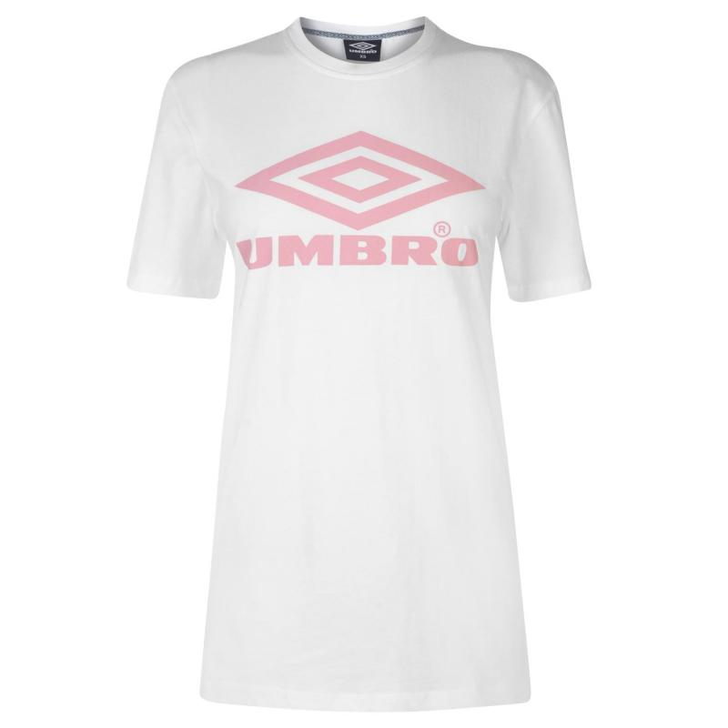 Umbro Umbro Logo T Shirt Ladies WHITE/BLUSH
