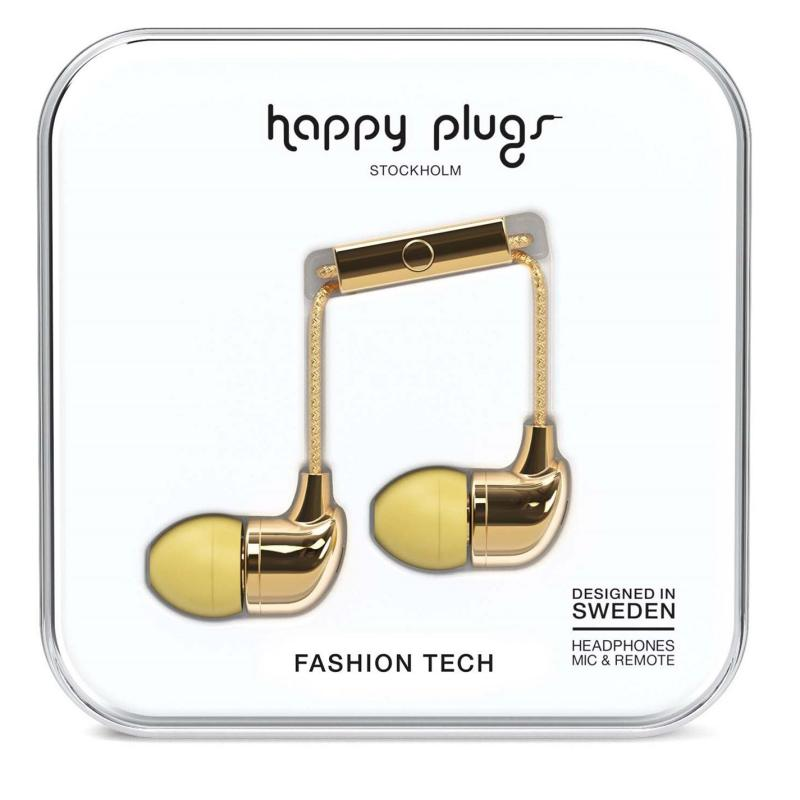 Happy Plugs In Ear Headphones Gold