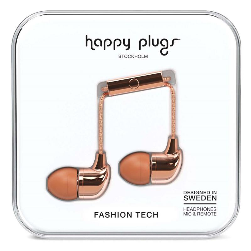 Happy Plugs In Ear Headphones Rose Gold