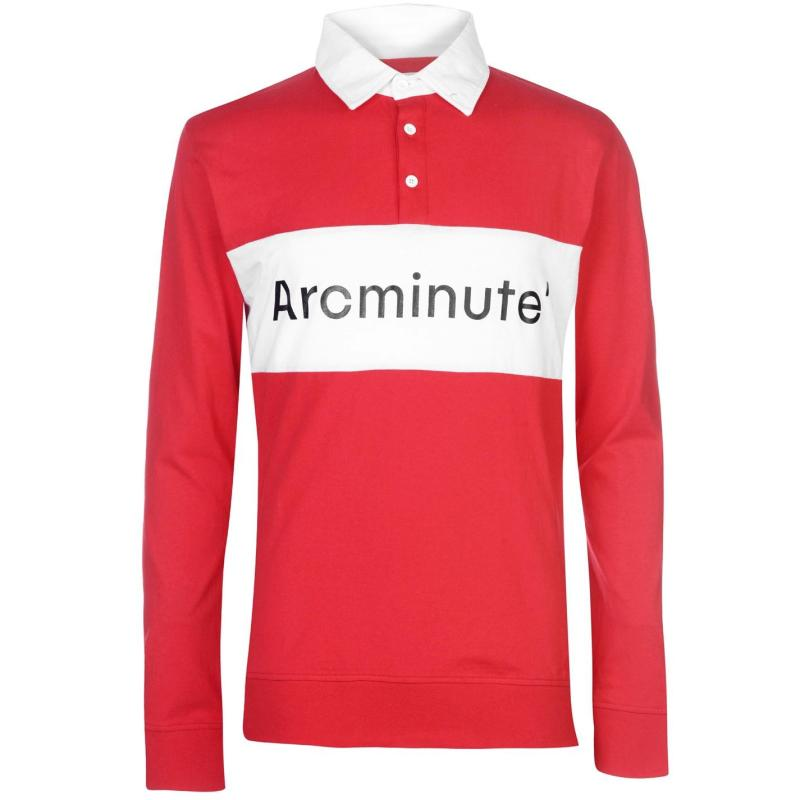Arcminute Funnel Long Sleeve Polo Red