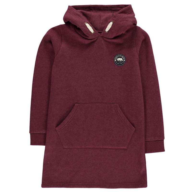 Šaty SoulCal Hoody Dress Junior Girls Amaranth Marl