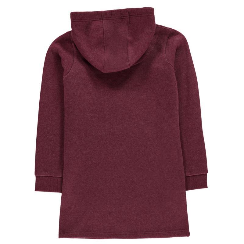 Šaty SoulCal Hoody Dress Junior Girls Amaranth Marl