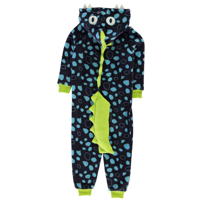 Pyžamo Crafted Nov Onsie InB94 Blue Dino