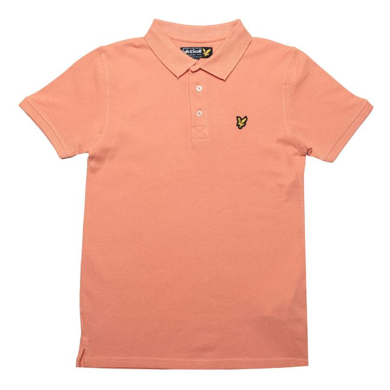 Tričko Lyle And Scott Junior Boys Classic Polo Shirt Coral