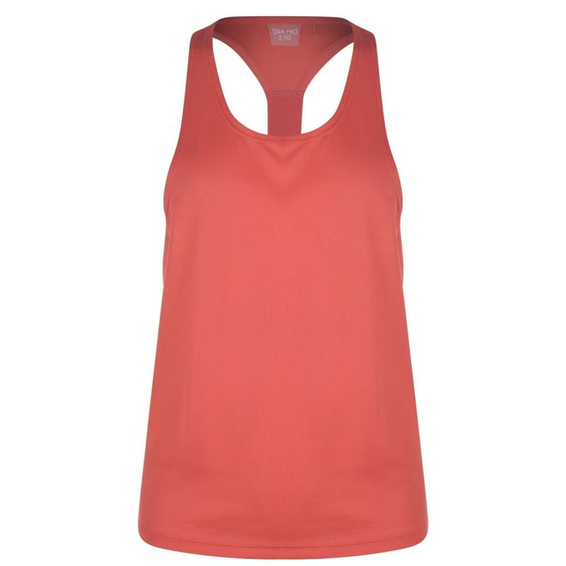 USA Pro Boyfriend Tank Top Junior Girls Spiced Coral