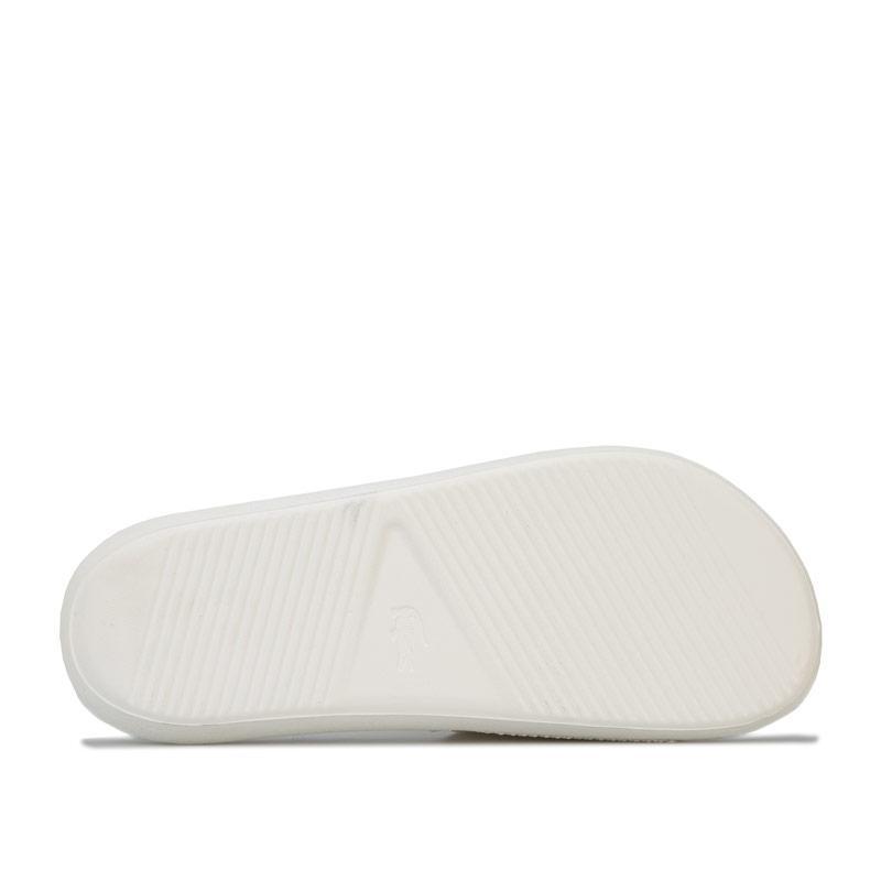 Boty Lacoste Womens Croco Slide Sandals White