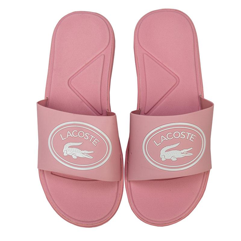 Boty Lacoste Womens L.30 Slide Sandals Pink white