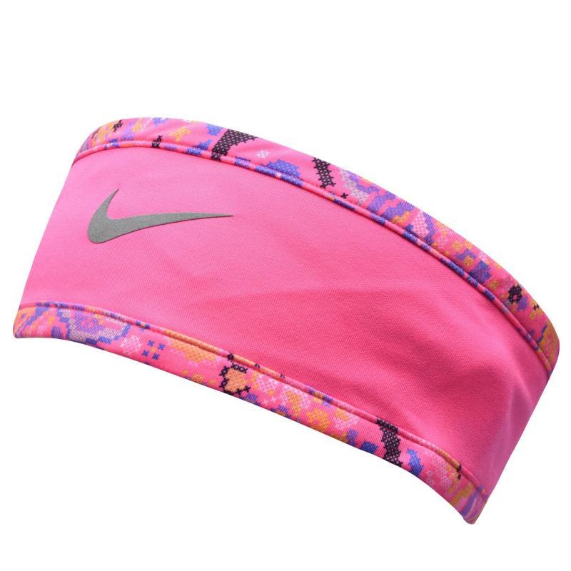 Nike Running Headband and Glove Set Ladies Black/Pink