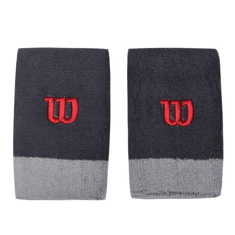 Wilson Wide Wristband Womens Grey