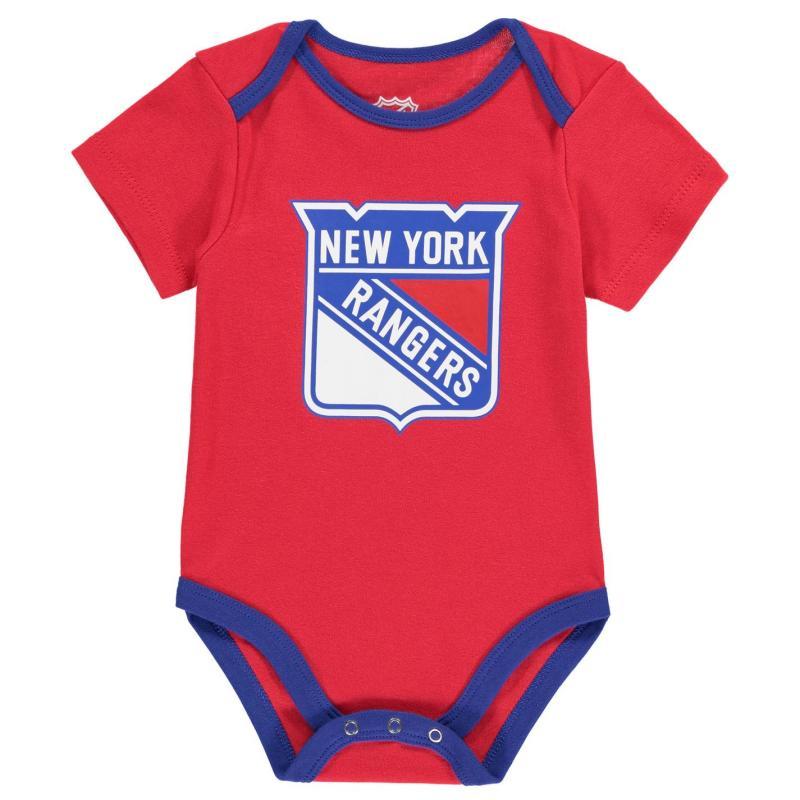 Pyžamo NHL 3 Pack Bodysuit 01 NY Rangers