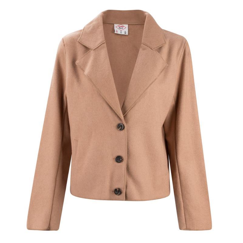 Lee Cooper Wool Blend Jacket Ladies Beige