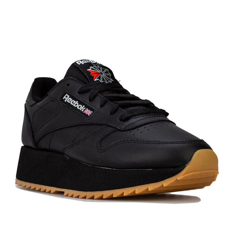 Reebok Classics Womens Classic Leather Double Trainers Black
