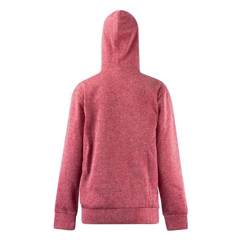 Mikina Lee Cooper Marl Fleece Zip Hoodie Ladies Pink Marl