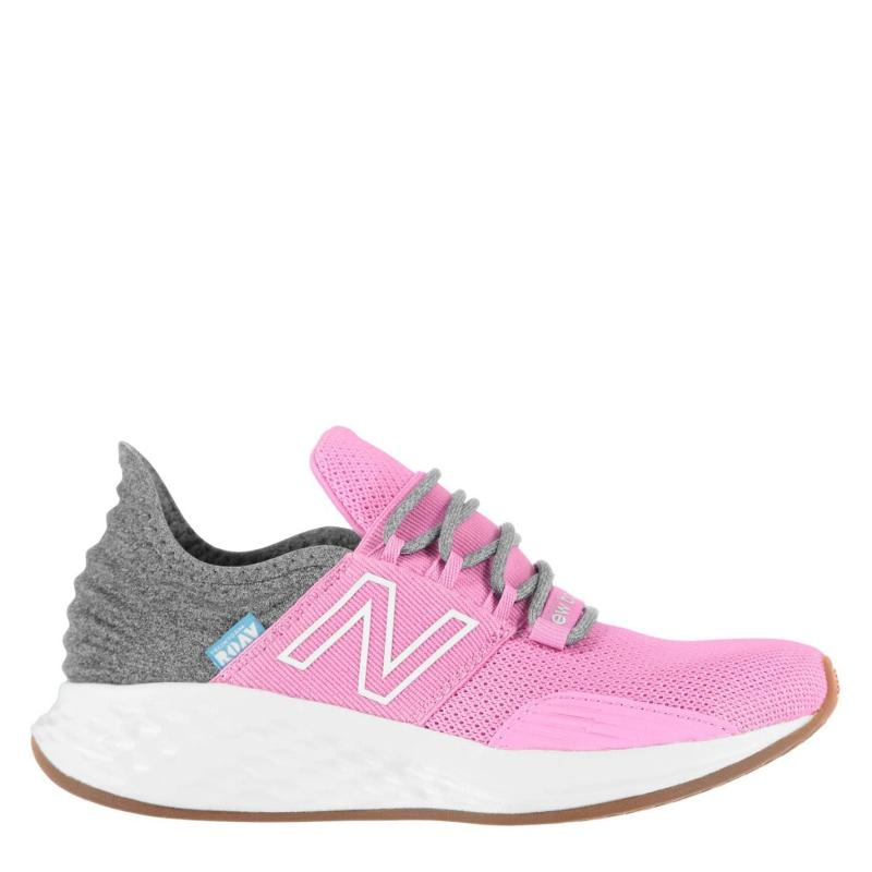 New Balance Fresh Foam Roav Trainers Junior Girls Pink/Silver