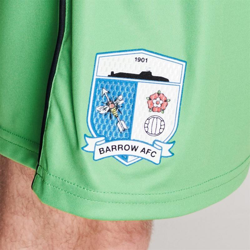 BLK Barrow AFC Away Shorts Mens Green