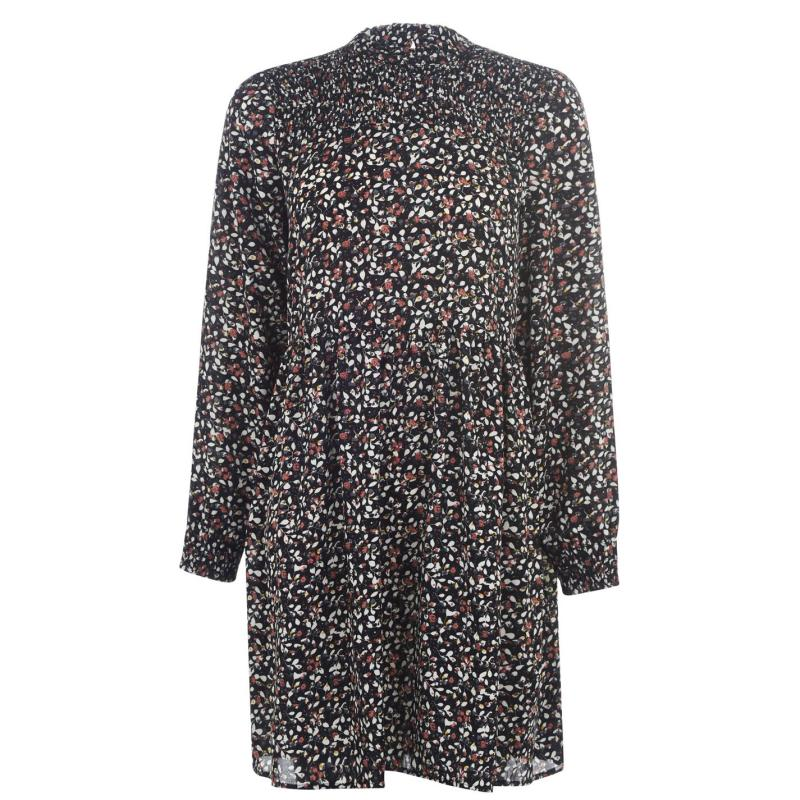 Šaty JDY Nikky Mini Dress Small Leaf/Blk