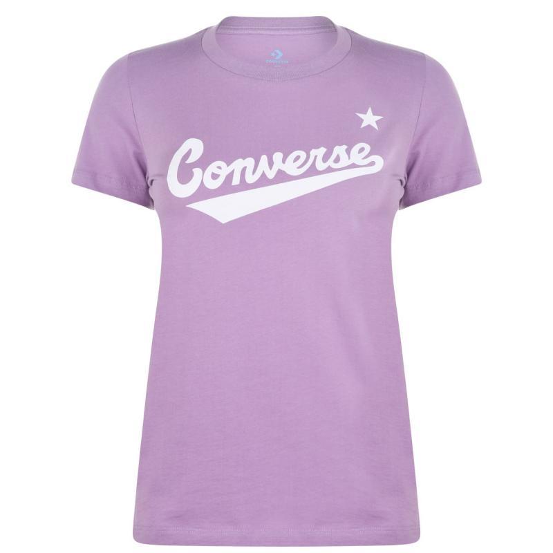 Tričko Converse Nova Logo T Shirt Ladies Dusty Lilac