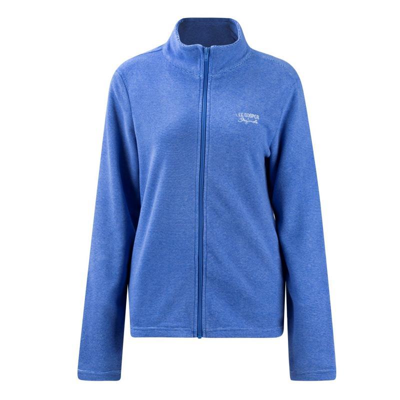 Mikina Lee Cooper Brushed Fleece Jacket Ladies Blue