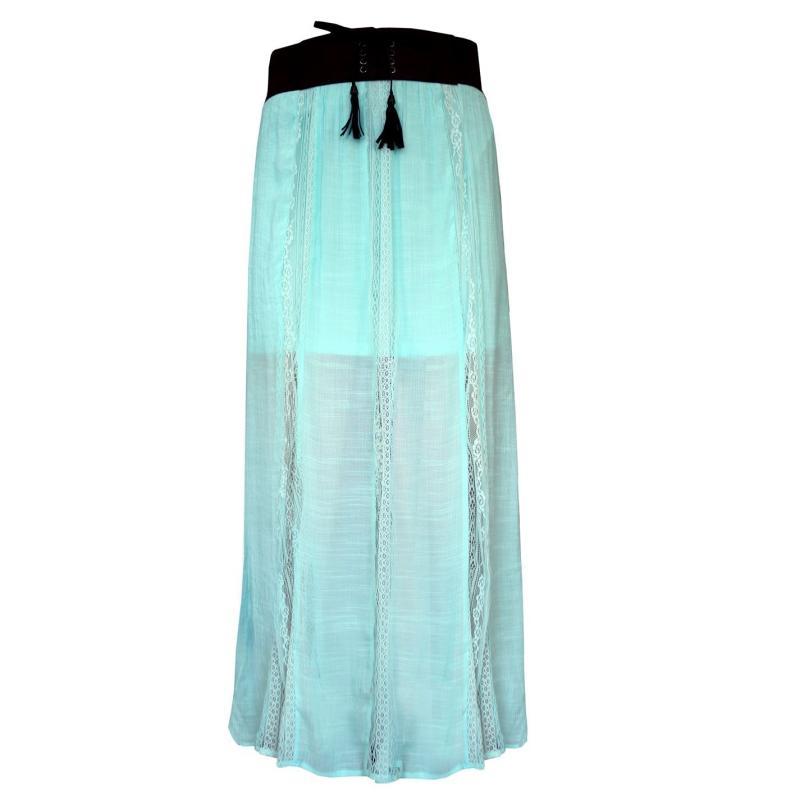 Sukně Lee Cooper Maxi Skirt Ladies Mint