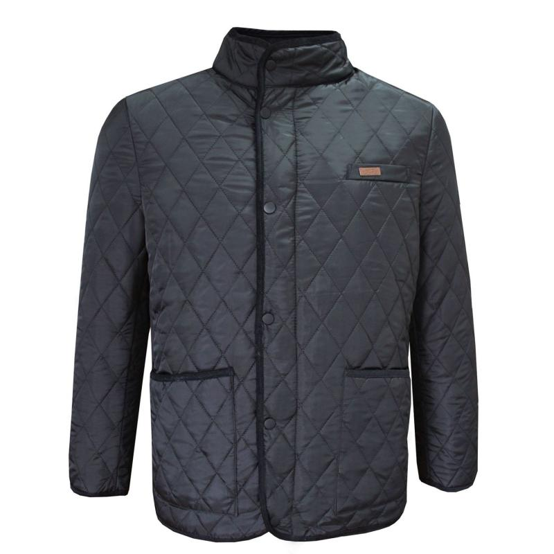 Lee Cooper Quilted Padded Jacket Mens Black