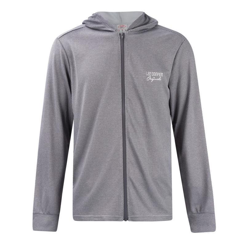 Mikina Lee Cooper Leisure Jacket Mens Charcoal