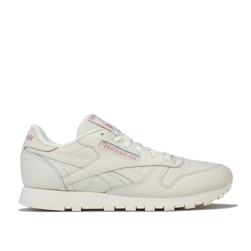 Reebok Classics Womens Classic Leather Trainers Chalk