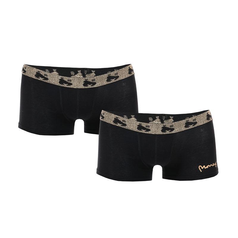 Ponožky Money Boys 2 Pair Black Label Boxer Shorts Black