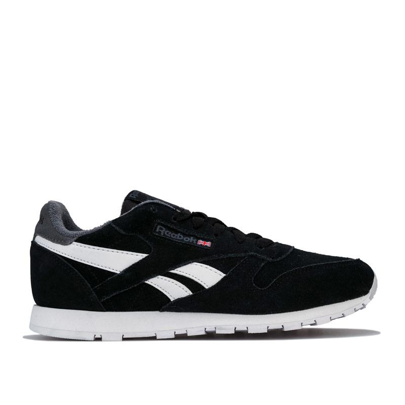 Boty Reebok Classics Junior Boys Classic Leather Trainers Black