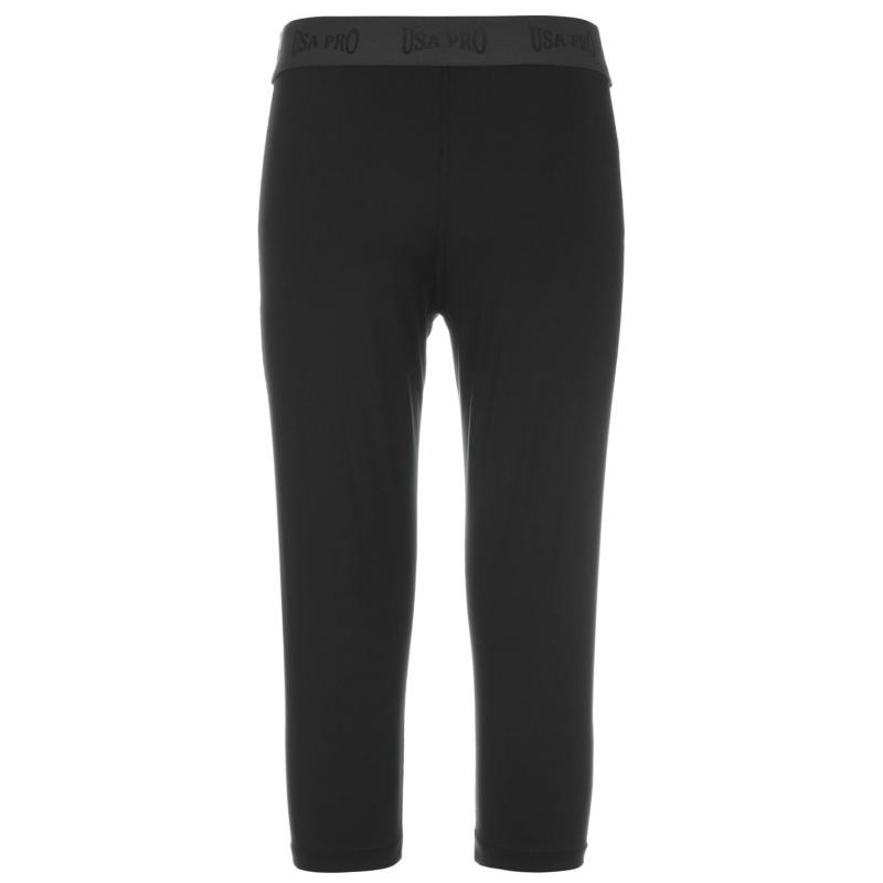 USA Pro Training Capri Tights Junior Girls Black