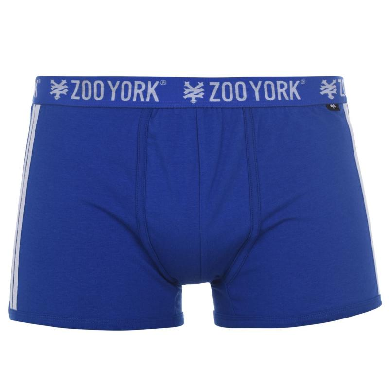 Spodní prádlo Zoo York 3 Pack Print Boxers Mens Blue/Khaki/Wht