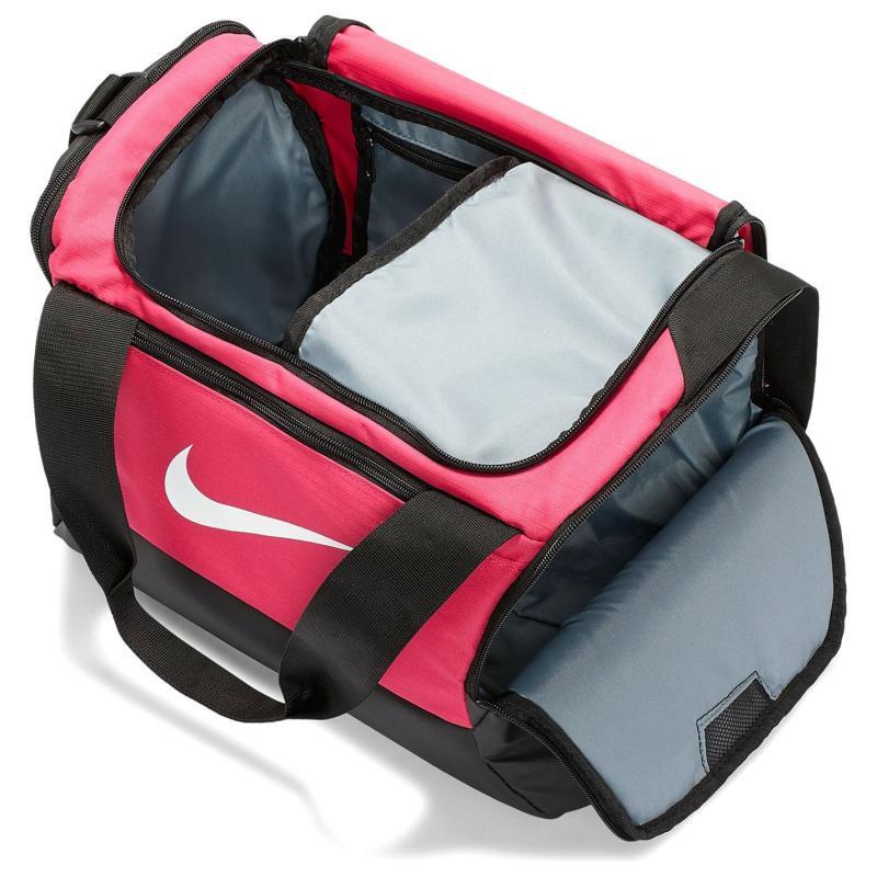 Nike Brasilia XS Training Duffel Bag (Extra Small) RUSH PINK/BLACK/WHITE