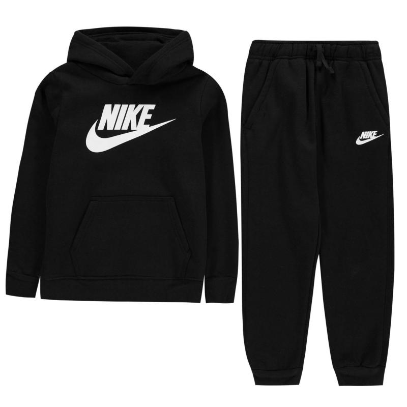 Tepláky Nike Fleece Tracksuit Infant Boys Black