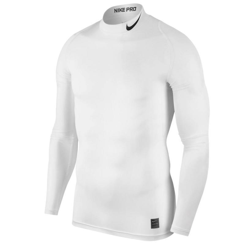 Nike Pro Men's Long-Sleeve Top White