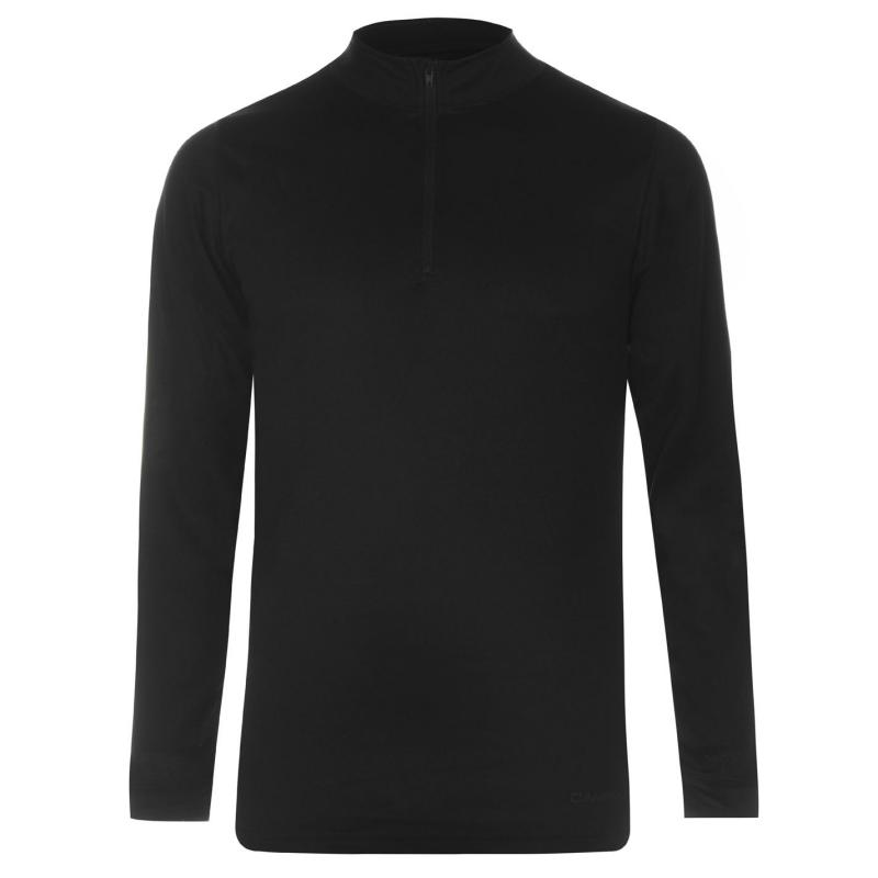 Campri Thermal Zip Top Mens Black