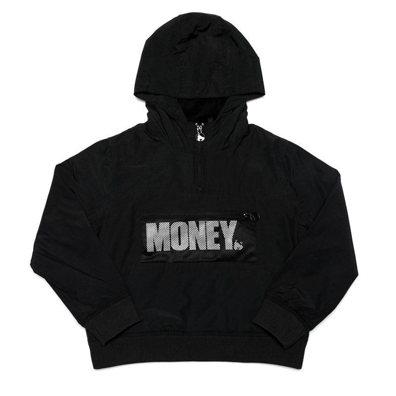 Bunda Money Junior Boys Micro Fleece Windcheater Jacket Black