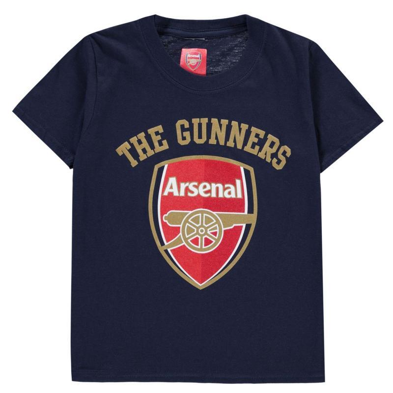 Source Lab Arsenal FC Crest T Shirt Junior Boys Navy