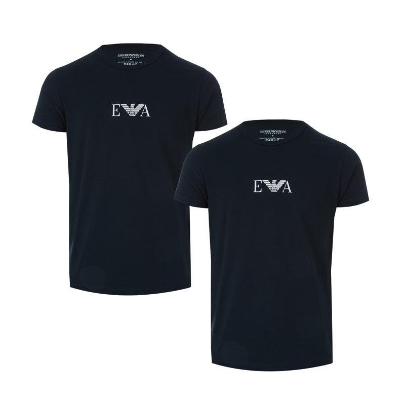 Tričko Armani Mens 2 Pack T-Shirt Navy