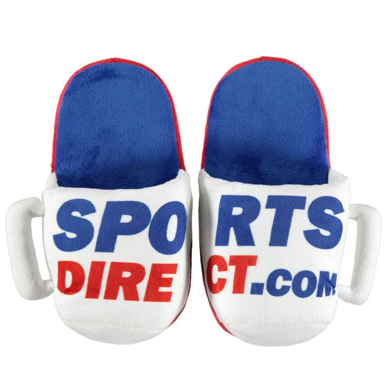 SportsDirect Mug Slippers White/Red