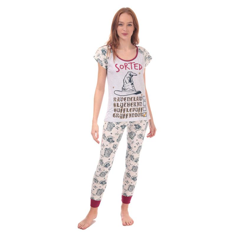 Pyžama Warner Bros Womens Harry Potter Pyjamas Grey Marl
