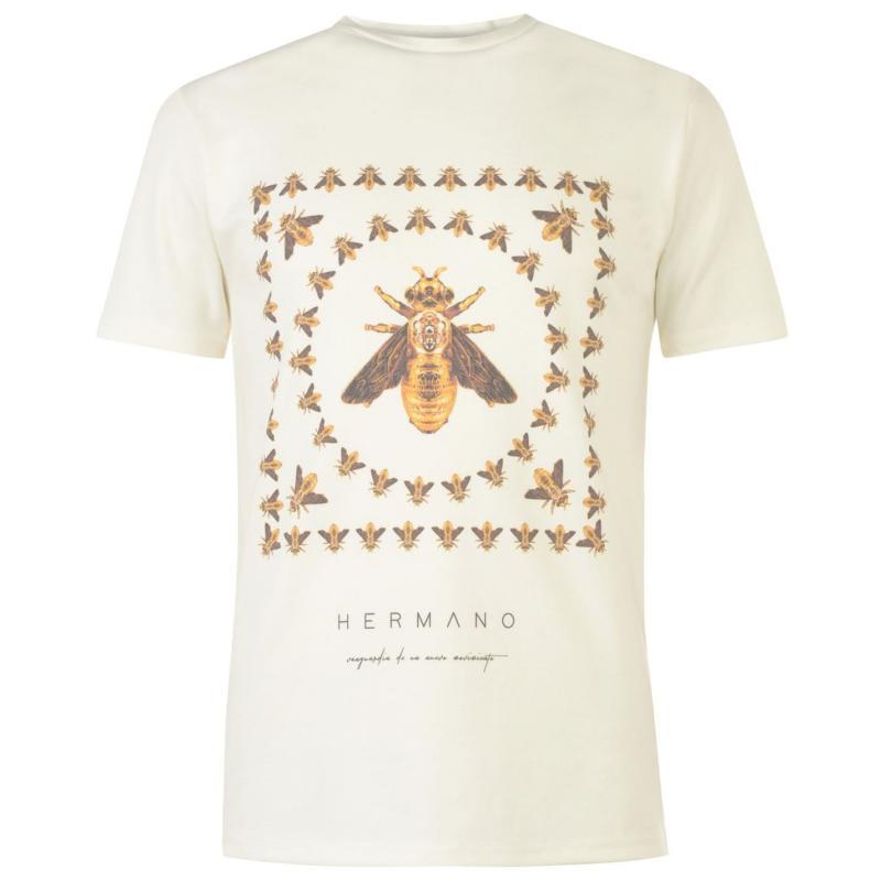 Tričko Hermano Taped T-Shirt White/Gold