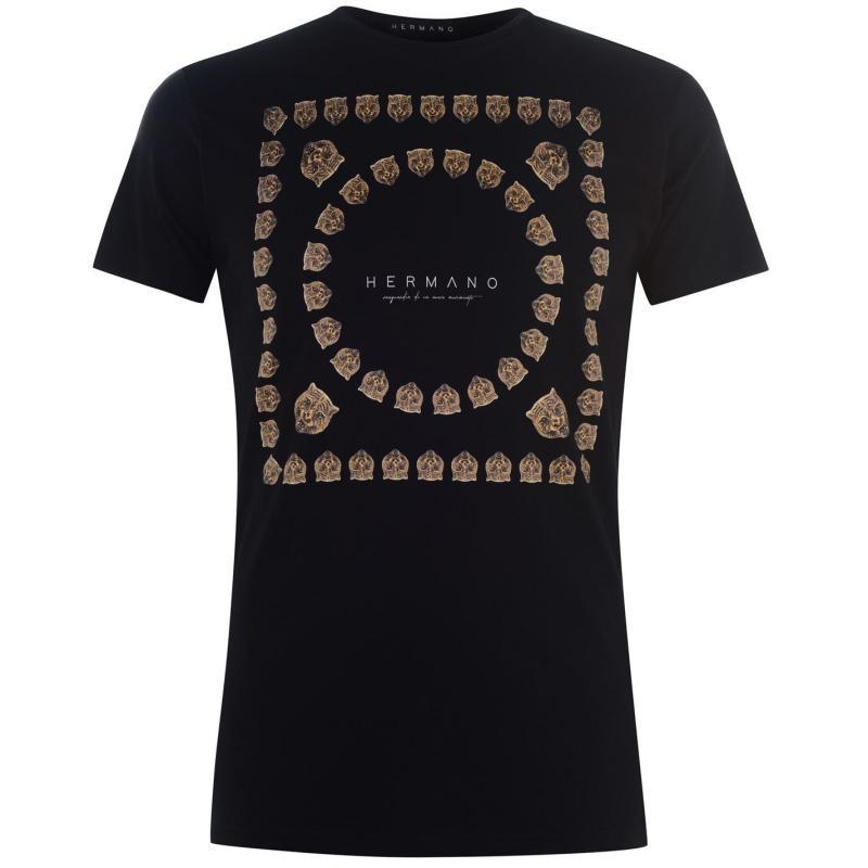 Tričko Hermano T Shirt Tiger/Black