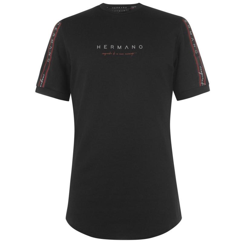 Tričko Hermano Taped T-shirt Black/Red/Wht