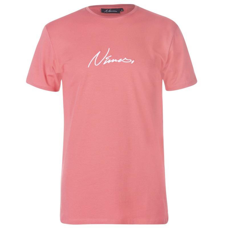 Tričko Nimes Core Logo T Shirt Mens Dusk/White