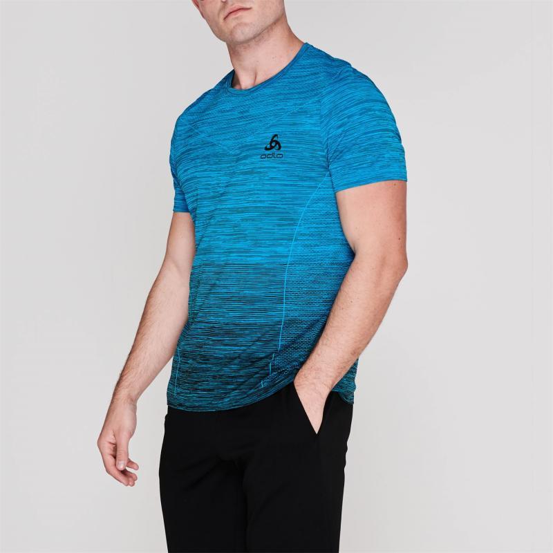 Odlo Kamile Crew T Shirt Mens Blue Jewel