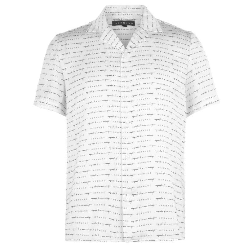 Hermano Short Sleeve Shirt White/Blk/Gd
