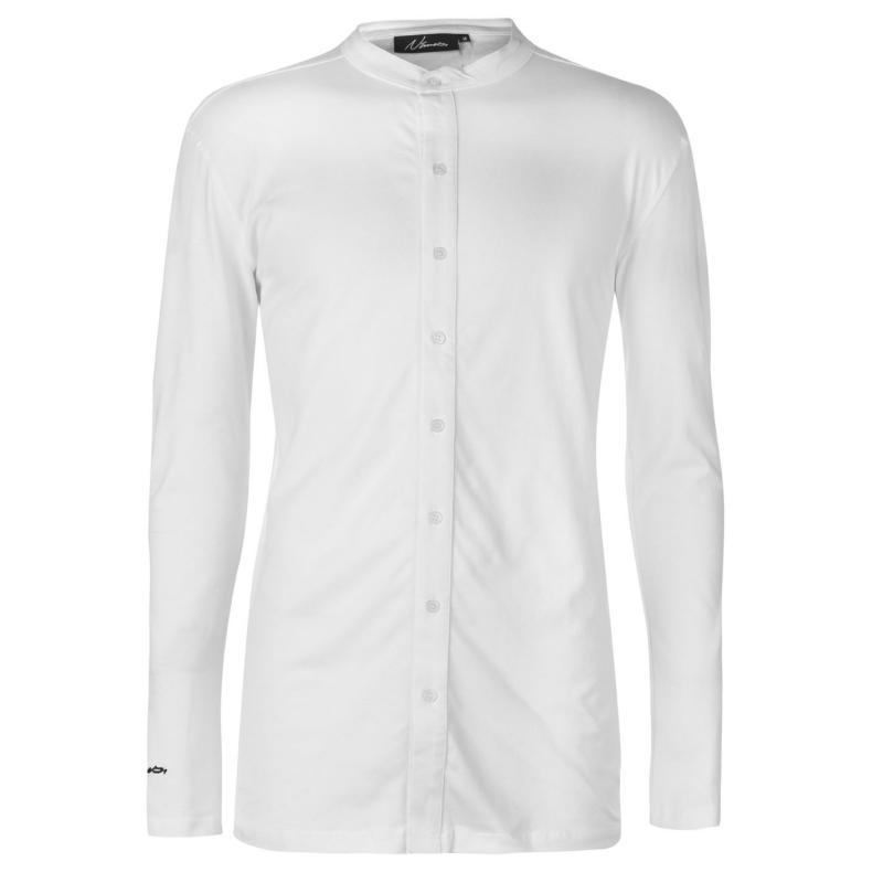 Nimes Long Sleeve Cuff Logo Shirt White