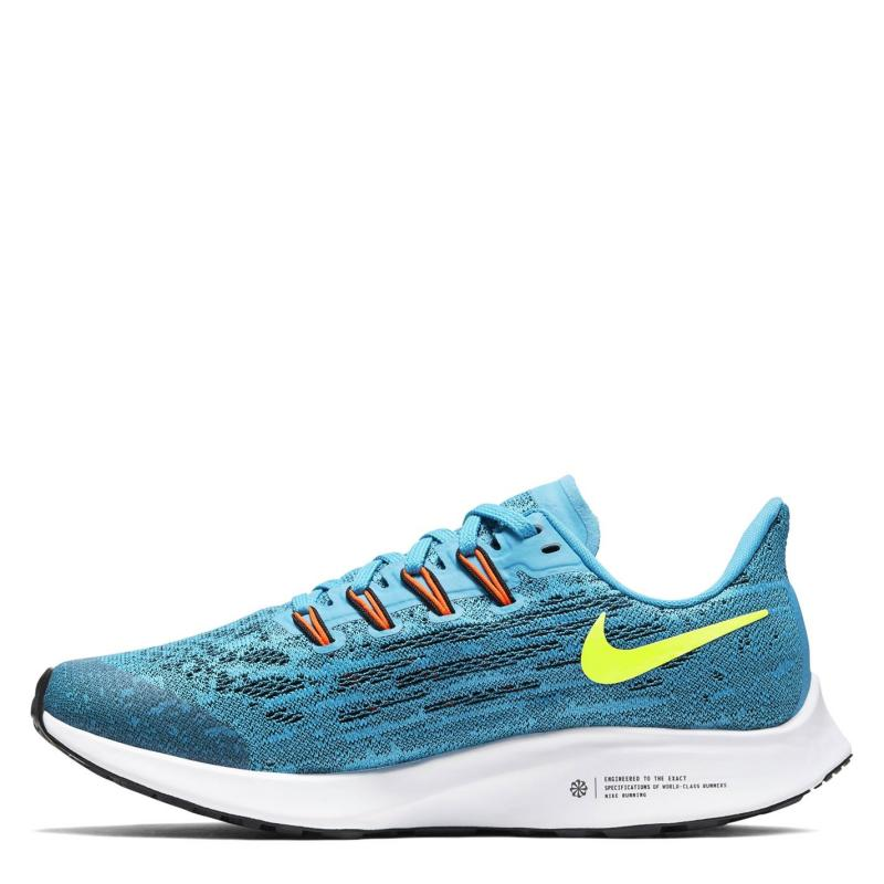 Boty Nike Air Zoom Pegasus 36 Junior Running Shoes Blue/Lemon
