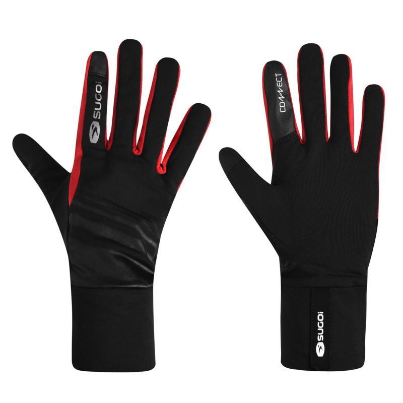 Sugoi LT Running Gloves Red