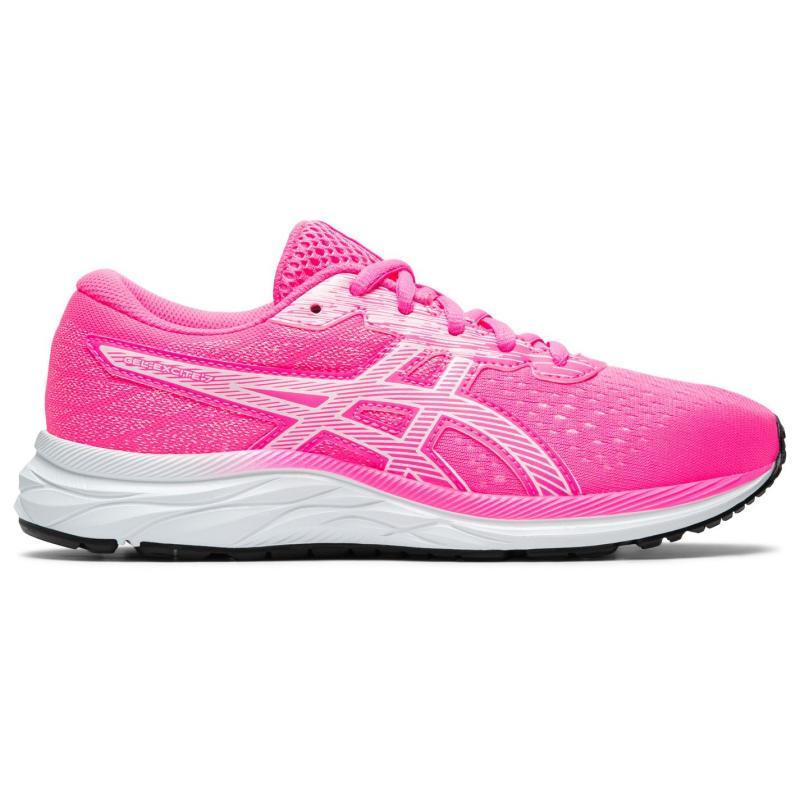Asics Gel Excite 7 Junior Girls Running Shoes HOT PINK/WHITE