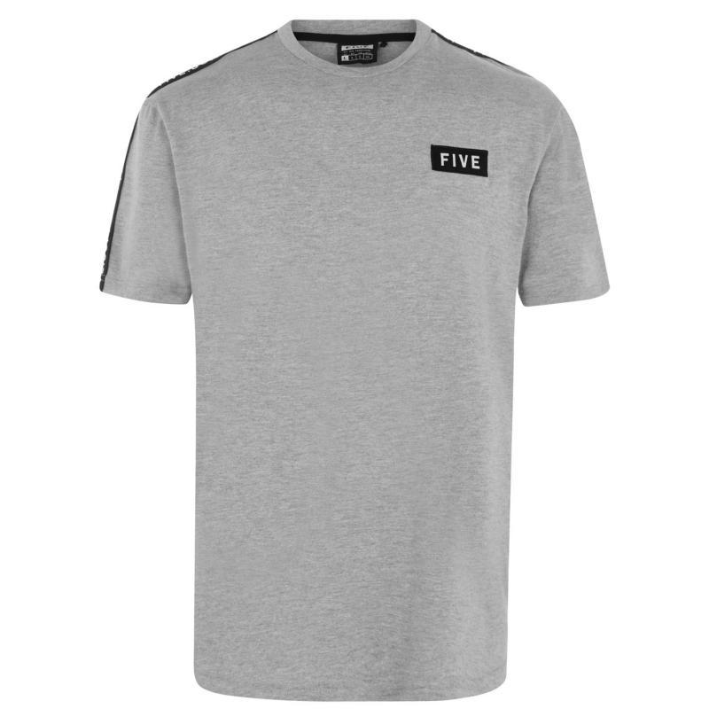 Tričko Five Supply T Shirt Mens Grey Marl